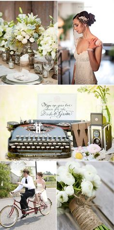 Retro theme wedding