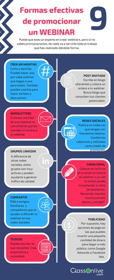9 formas efectivas de promocionar un Webinar