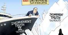 What can I say that I haven't said before...read Climatized!...Al Gore's new movie is a big flop at the box office. Could be because his first movie was wrong about everything. Political Cartoon by A.F. Branco ©2017.
