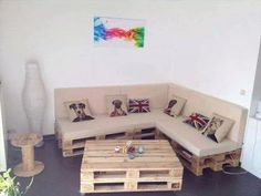 Cushioned Pallet Sectional Sofa | 99 Pallets