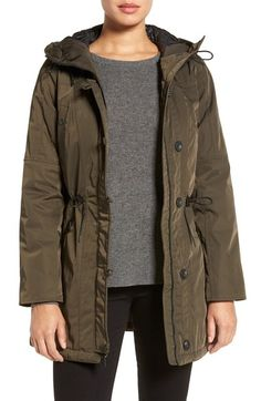ANDREW MARC Marc New York by Andrew Marc 'Chrissy' Rain Coat with Removable Hood. #andrewmarc #cloth #