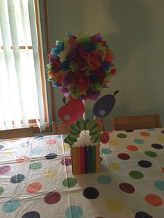 Very hungry caterpillar table centerpiece decorations!