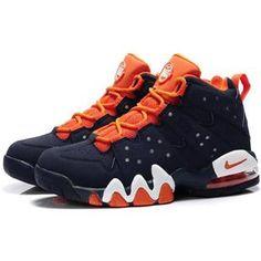 http://www.asneakers4u.com/ Charles Barkley Shoes Nike Air Max2 CB 94 Dark Blue/Orange