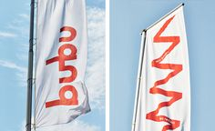 Flags for Swiss binding specialists Bubu by graphic design studio Bob Design