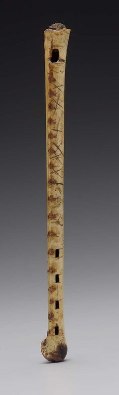 Duct flute   Museum of Fine Arts, Boston  Arawak people 1900–50  Object Place: Colombia  DIMENSIONS  Length 29 cm, diameter 1.4 cm (Length 11 7/16 in., diameter 9/16 in.)