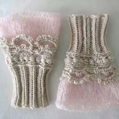 crochet+ knitting: beautiful but webpage is in Russian. Maybe it's time I learned how to read a crochet chart.fingerless knit and crochet gloves.love these victorian inspired wrist warmers - knit and crochet Almost encourages me to learn to crochet, Crochet Mittens, Crochet Gloves, Knit Or Crochet, Crochet Pattern, Free Pattern, Mittens Pattern, Sweater Mittens, Irish Crochet, Knitting Projects