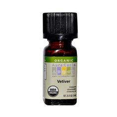 Aura Cacia Organic Essential Oil - Vetiver - .25 Oz