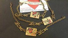 Guarda questo articolo nel mio negozio Etsy https://www.etsy.com/it/listing/253670910/bracciale-love-bronzo-tattoo-style