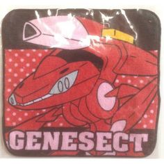Pokemon 2013 7-11 Convenience Store Red Genesect Mini Hand Towel Lottery Prize NOT FOR SALE IN STORES