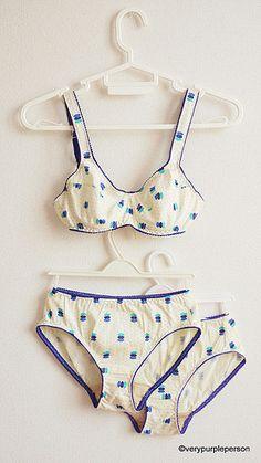 de5d05f6e4 Cotton knit lingerie set - pattern and links to tutorials.