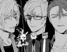 If u meet this group, u better run for your life =)) Cute Anime Boy, Anime Guys, Little Brothers, Group Art, Cute Anime Wallpaper, Handsome Anime, Free Anime, Comic Games, Anime Sketch