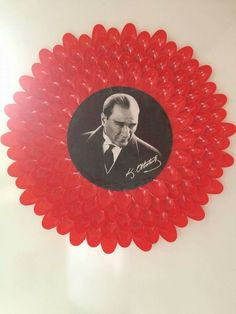 Atatürk Kindergarten Projects, Turkey Holidays, National Holidays, Pre School, Independence Day, Wall Design, Special Day, Red And White, Birthday