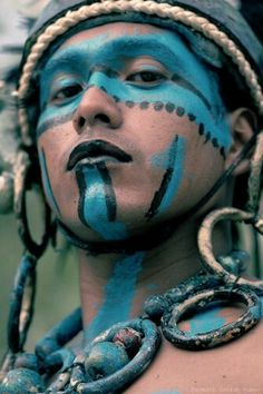 Turquoise | face paint, native people