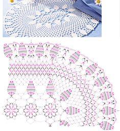 Receita e grafico de centro de mesa oval em croche - Google-Suche