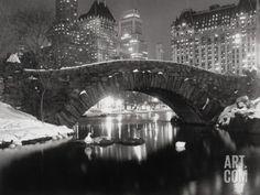 Art.fr - Photographie 'Lac de New York en hiver' par Bettmann