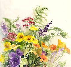 Flowers - watercolor by Kathleen Spellman