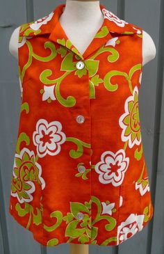 1960s Pacific Isle Aloha Hawaiian Sleeveless Blouse Red White Green Ladies 14 - saree blouse, satin blouse, black dress blouse *sponsored https://www.pinterest.com/blouses_blouse/ https://www.pinterest.com/explore/blouse/ https://www.pinterest.com/blouses_blouse/white-blouse/ http://www.forever21.com/Product/Category.aspx?category=top_blouses-shirts