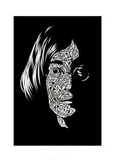 "Saatchi Online Artist Otto Schade; Drawing, ""John Lennon"" #art"
