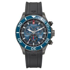 Swiss Military - Men\'s Immersion Black Rubber Watch - 6-4226.30.003 - RRP: £345.00 - Online Price: £276.00