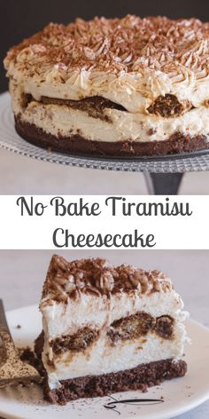 A creamy no bake Tiramisu Cheesecake Classic Tiramisu meets cheesecake works perfectly and tastes even better! The perfect dessert idea. The post No Bake Tiramisu Cheesecake appeared first on Orchid Dessert. Banana Pudding Cheesecake, Cheesecake Desserts, No Bake Desserts, Delicious Desserts, Tiramisu Dessert, Cheesecake Factory Tiramisu Cheesecake Recipe, Homemade Cheesecake, Classic Cheesecake, Pumpkin Cheesecake