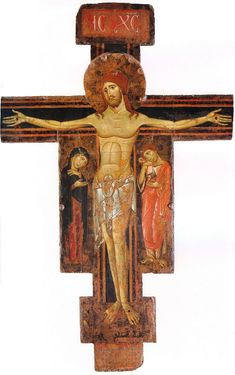 Holy Cross, by Berlinghieri Berlinghiero, 1225 - Century Life Of Christ, The Cross Of Christ, Jesus Christ, Religious Images, Religious Icons, Religious Art, Byzantine Icons, Byzantine Art, Religious Paintings