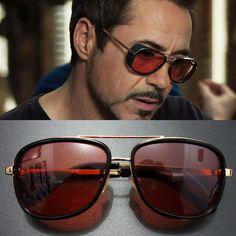 166c8716f8 Sunglasses Vintage Tony Stark Iron Man Sunglasses Men Luxury Brand