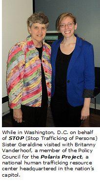 Sister Geraldine Nowak Goes to Washington