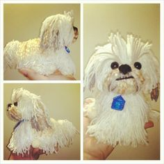"""Acquire wonderful pointers on """"shih tzus pup"""". They are readily available for you on our web site. Crochet Quilt, Crochet Motif, Crochet Yarn, Crochet Toys, Free Crochet, Toy Shih Tzu, Perro Shih Tzu, Shih Tzus, Crochet Dog Patterns"""