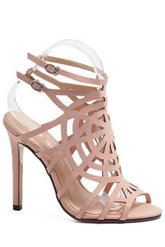 Buckle Hollow Out Stiletto Heel Sandals