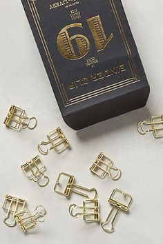 Folio Binder Clips #anthropologie