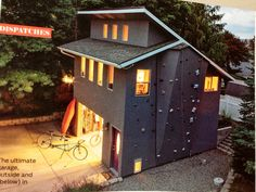 Love the climbing wall on the side. Sweet. // How about a little roof there?