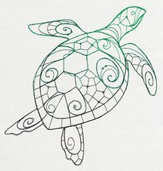 The Delicate Ones - Sea Turtle | Urban Threads: Unique and Awesome Embroidery Designs