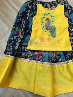 Kids Dress Wear, Dresses Kids Girl, Kids Wear, Kids Outfits, Kids Lehanga Design, Lehanga For Kids, Kids Indian Wear, Kids Ethnic Wear, Baby Girl Fashion