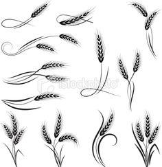 Wheat ornament Royalty Free Stock Vector Art Illustration