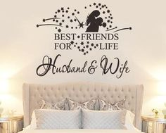 Best Friend For Life Husband Wife Vinyl Wall Sticker Bedroom Decor Home Decal - Limited Time Special Promo