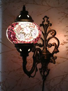 Multicolour Turkish Moroccan Style Mosaic Wall Sconce Light Hand Made