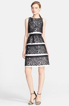 Michael Kors Lace Overlay A-Line Dress available at #Nordstrom  HIGHLY over priced!