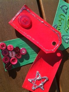 Make your own gift tags from scratch or get a little help with a DIY Holiday craft kit from Wild About Crafts. Great activity for Holiday parties http://www.wildaboutcrafts.com/collections/holiday-paty-crafts