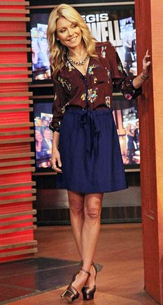 Kelly Ripa - blouse & skirt ... best dressed TV show hosts, the ladies of the news are my inspiration in the mornings!
