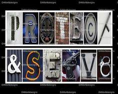 Protect and Serve - Police Framed Alphabet Photo Art