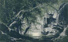""""""" Götterdämmerung """" 3.Aufzug 1.Bild 1876 Entwurf Geb.Brückner nach Josef Hoffmann"""