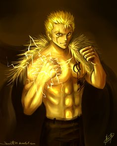 Laxus from Fairytail #fairytail #laxus #anime Yellow: Laxus by Jeannette11