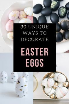 Looking for fun and unique Easter egg decorating ideas? This post is packed full of inspiration just in time for spring crafting season. Easter Bunny Crochet Pattern, Easter Egg Designs, Egg Decorating, Holiday Decorating, Spring Crafts, Craft Tutorials, Crochet Flowers, Easter Eggs, Hoppy Easter