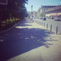road to our office.Old City, Bucharest