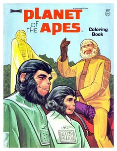 Planet of the Apes coloring book (1970's). By Artcraft.
