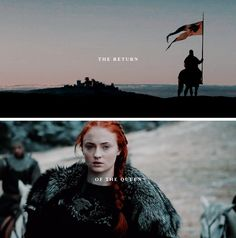 Sansa Stark: and when you come out with your long auburn hair, clad in a…