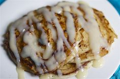 Cinnamon Roll Pancakes. Gonna be great for my waistline.
