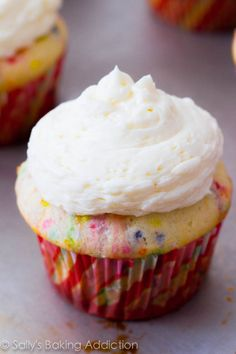 The best (and easiest) Homemade Funfetti Cupcakes I've ever tried. You will never bake from a box mix again!