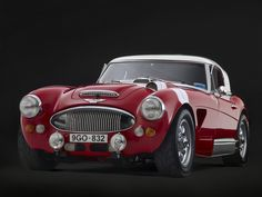 1967 Austin Healey RJ8 Rally Car The year I was born, everything was created with style <3