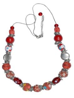 "$31.99 JousJous Red Tones Lakh Beads Passage of Time Necklace, 30"" Long JousJous,#necklance #gifts #designer"
